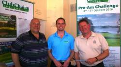 Mr Captain & Paul Wearing receiving their 2nd place at a Club Choice Ireland Open
